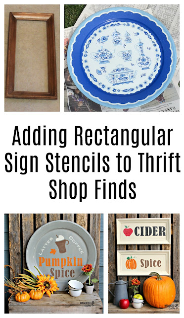 How To Use Rectangular Sign Stencils On Thrifted Finds
