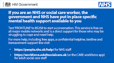 Mental health NHS workers help