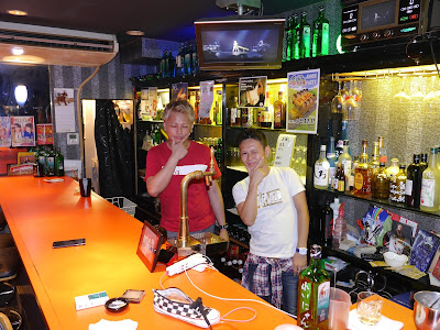 Bar staff at Nagoya gay bar, King Diamond, in the Sakae district, Naka ward.