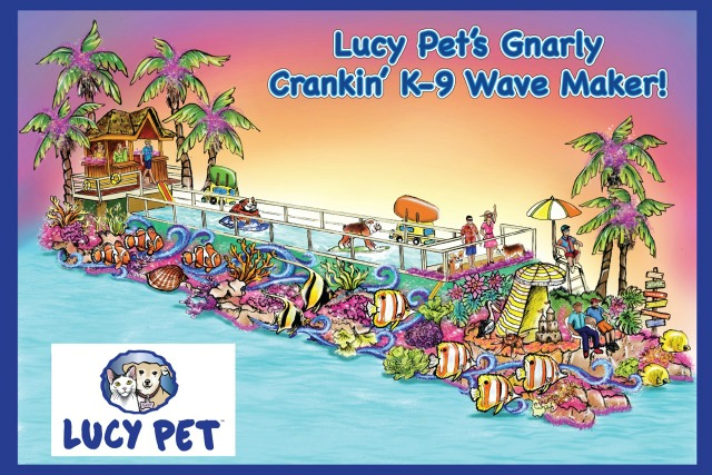 Lucy Pet Contest to win a seat on tournament of roses parade float