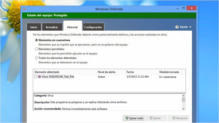 Los mejores antivirus gratuitos para Pc Windows-Defender