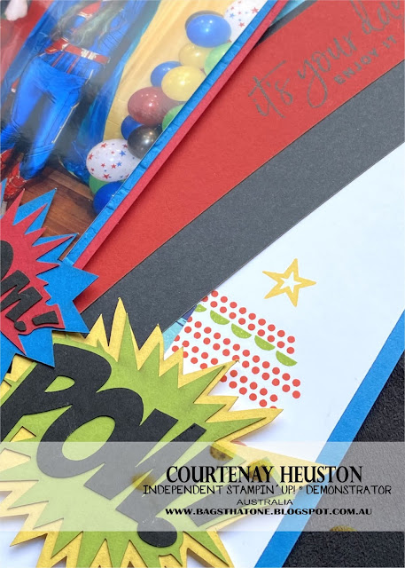 Marvel Scrapbook page close up