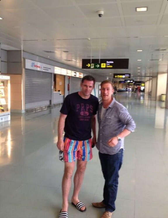 Jamie Carragher's awful multi-coloured shorts