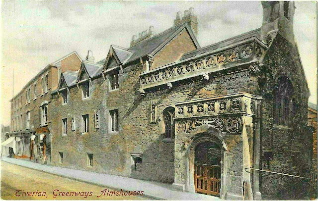 Postcard of Greenway's Almshouses 1896