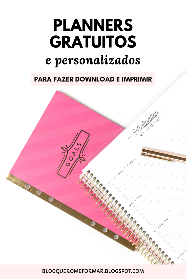 Planners Escolares Gratuitos e Personalizados para Fazer Download e Imprimir