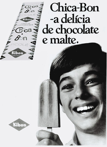 Propaganda antiga do picolé Chicabon da Kibon no começo dos anos 70