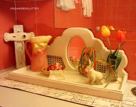 Vintage Shabby Easter Vignette