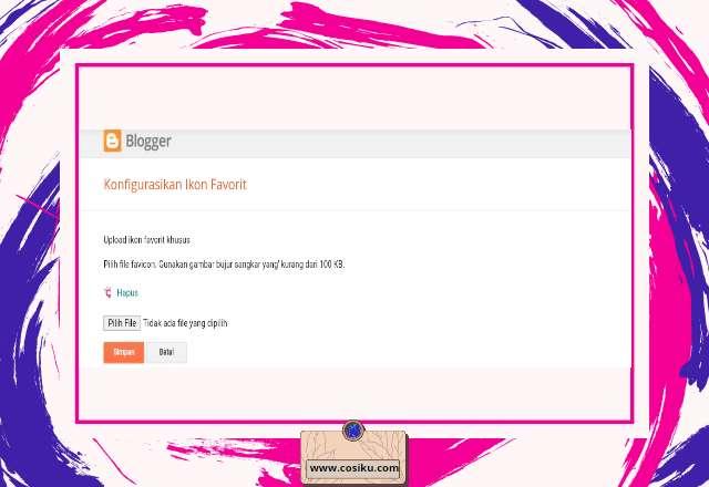 2 Cara Membuat Favicon Blogger Serta Memasangnya