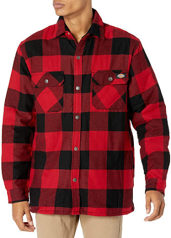 Best Red Plaid Flannel Shirts Jackets For Men