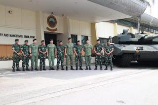 Kunjungan Pangkostrad ke Divisi 3 Singapura