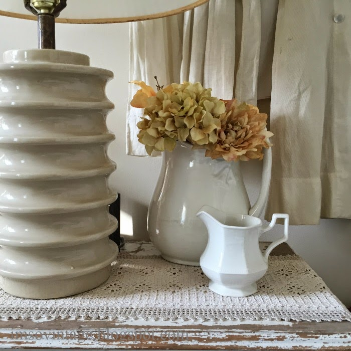 bedside table cottage decor