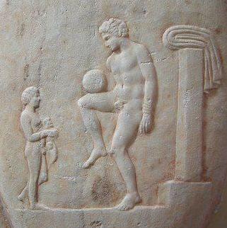 Episkyros atau permainan bola Yunani kuno