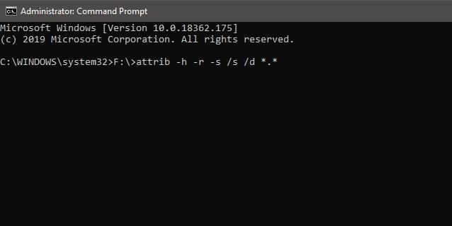 استخدم موجه الأوامر لاستعادة الملفات المحذوفة Windows 10 2
