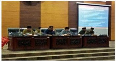 Pemerintah Provinsi Sumbar  Samapaikan Tiga Ranperda Ke DPRD Provinsi  Sumbar