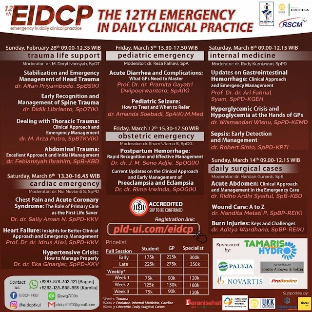 [THE 12TH EMERGENCY IN DAILY CLINICAL PRACTICE MAIN EVENT WEBINAR 2021]