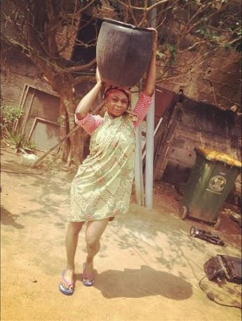 Karen Igho acts as Village Girl for her new movie role