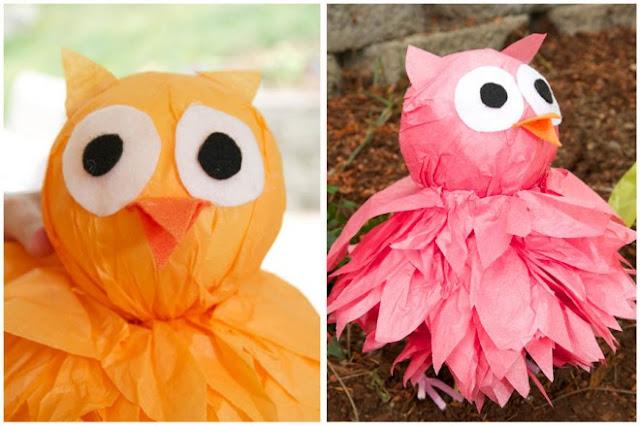 craft using tissue paper