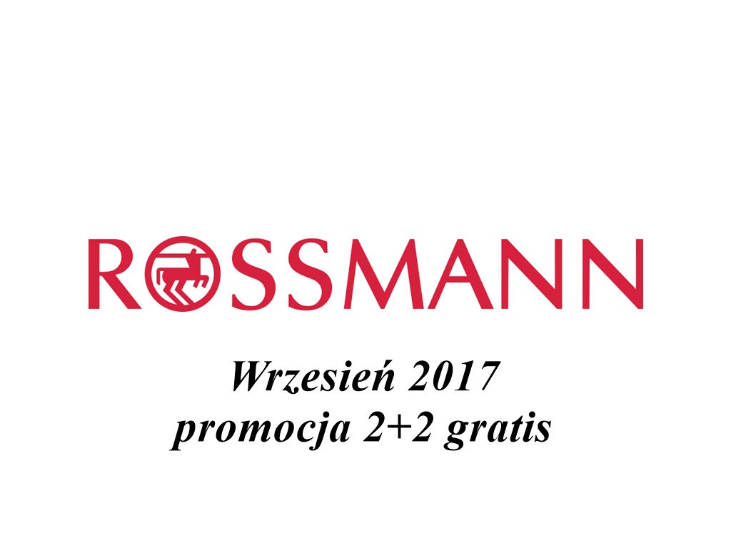 Rossmann promocja wrzesień 2017 2+2 gratis co kupić