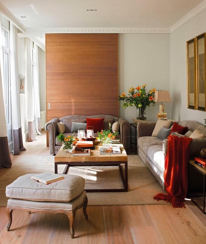 Stonowane mieszkanie w centrum Barcelony, wystrój wnętrz, wnętrza, urządzanie domu, dekoracje wnętrz, aranżacja wnętrz, inspiracje wnętrz,interior design , dom i wnętrze, aranżacja mieszkania, modne wnętrza, styl klasyczny, salon