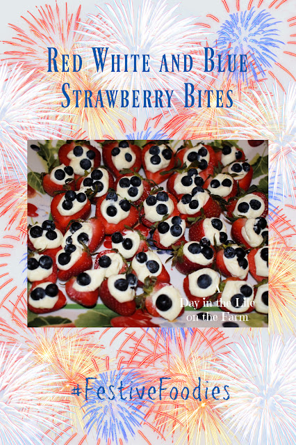 Red White and Blue Strawberry Bites pin