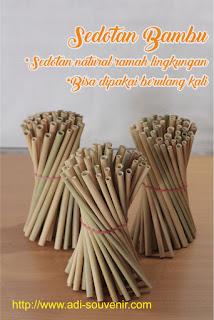 sedotan bambu souvenir
