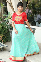 Lucky Shree Looks super cute in Bright Red Green Anarkali Dress ~  Exclusive 009.JPG