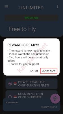 klik claim now