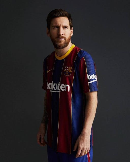 ميسى بقميص برشلونة الاساسى الجديد  2020