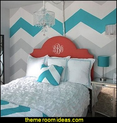 Chevron Stripes- Four - Paint-by-Number Wall murals  zig zag bedroom decorating ideas - Zig Zag wall decals - Chevron bedroom decorating ideas - zig zag wallpaper mural - zig zag decor - Chevron ZIG ZAG print - Herringbone Stencil - chevron bedding - zig zag rugs -