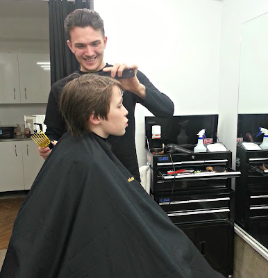 Boy's Haircut at Wallace Barbers