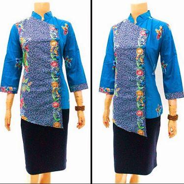 20 Model Baju Batik Kancing Samping Untuk Kerja Model