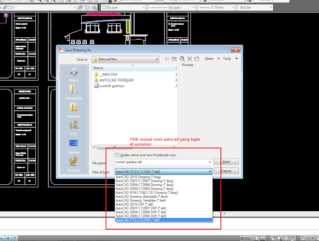 Download Desain Rumah Minimalis Dwg  tutorial merubah format ektensi gambar ke semua versi