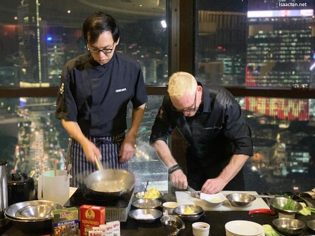 Chef Emmanuel Stroobant in action