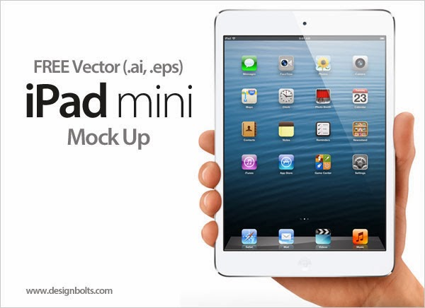 Free Vector New Apple iPad mini Tablet In (.ai & .eps) Format