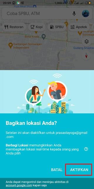 Cara Share Lokasi Google Maps ke WA 3