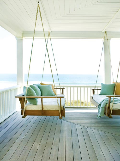 Outdoor Porch Swing Daybed Idea