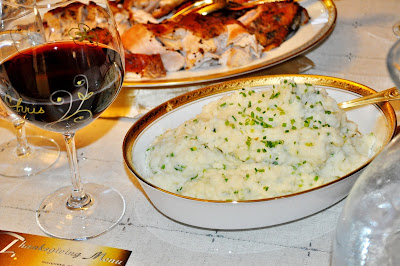 Riced Potatoes with Parsnips Cream Cheese and Chives