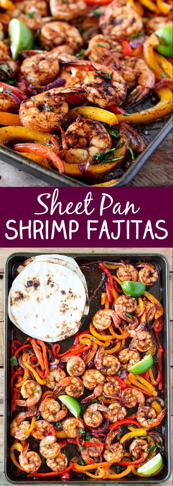 Sheet Pan Shrimp Fajitas Recipes #shrimprecipes #food #recipes #kitchen