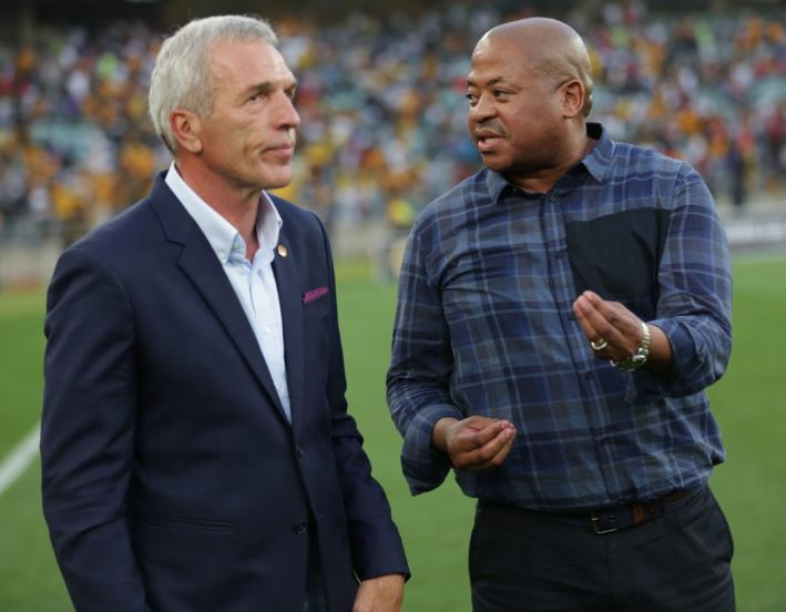 Ernst Middendorp, coach of Kaizer Chiefs and Bobby Motaung