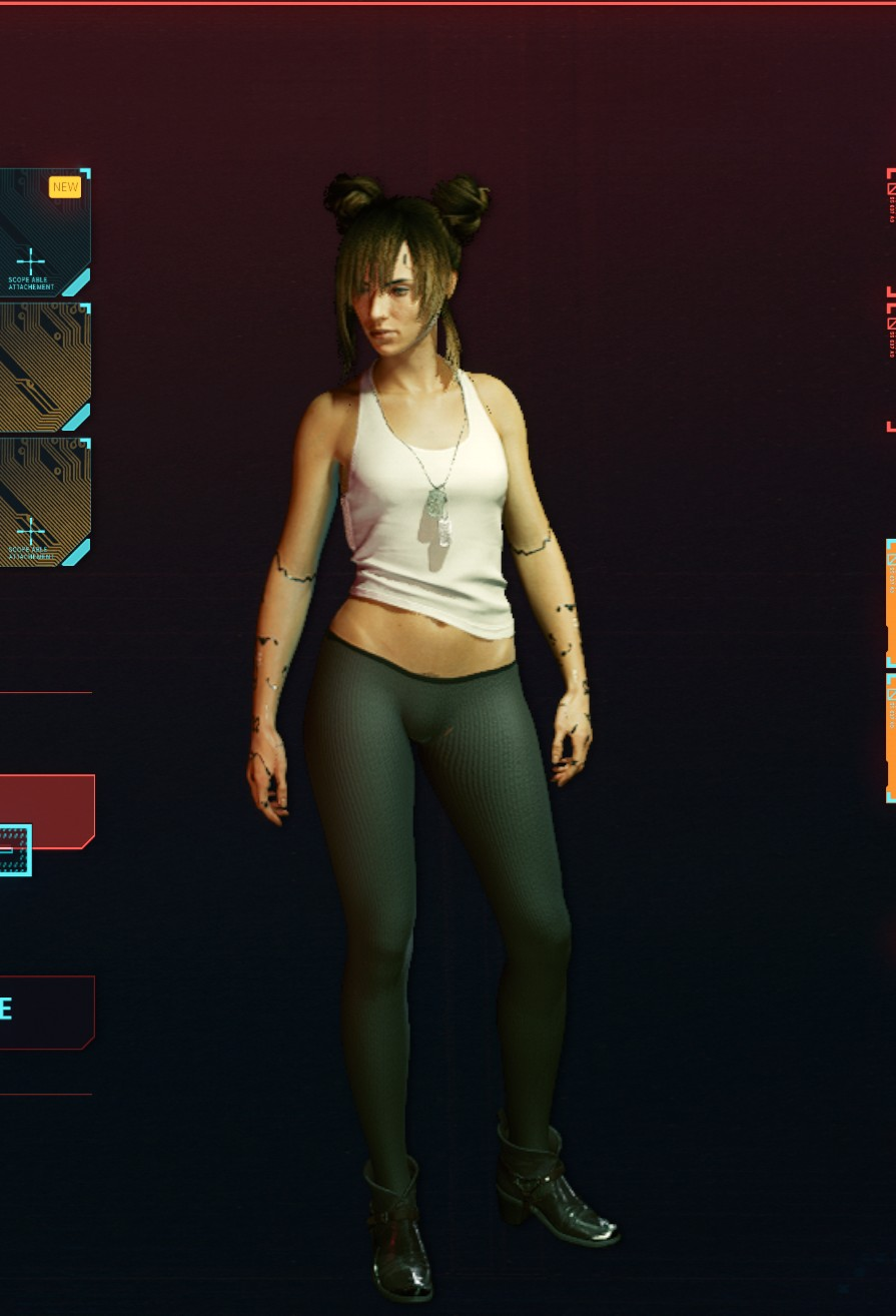 Cyberpunk 2077:  Realistic naked textures