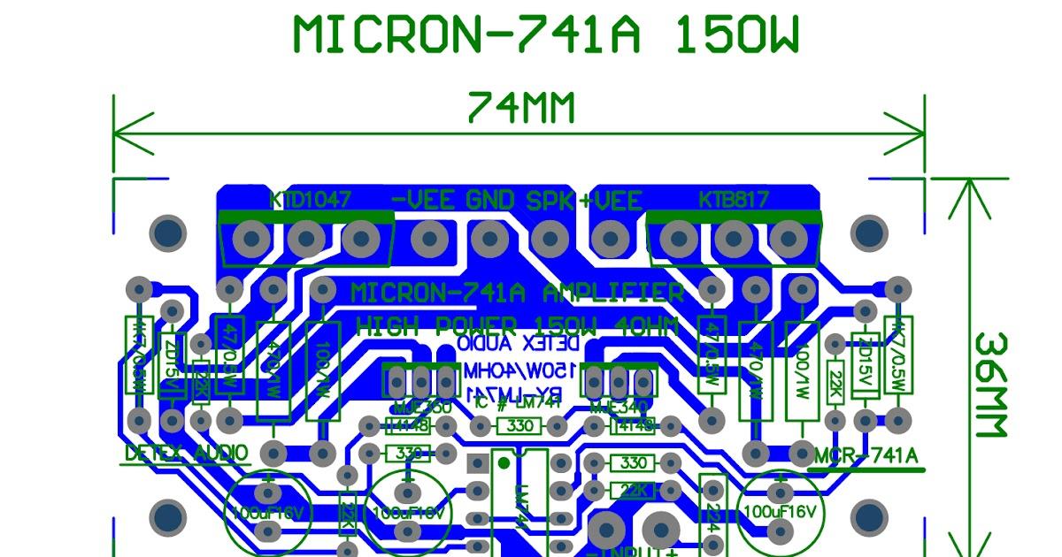 Yang katanya detex audio micron 741 rahmat priono for Home 741 741