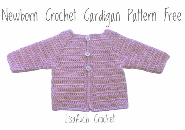 newborn crochet cardigan sweater pattern free