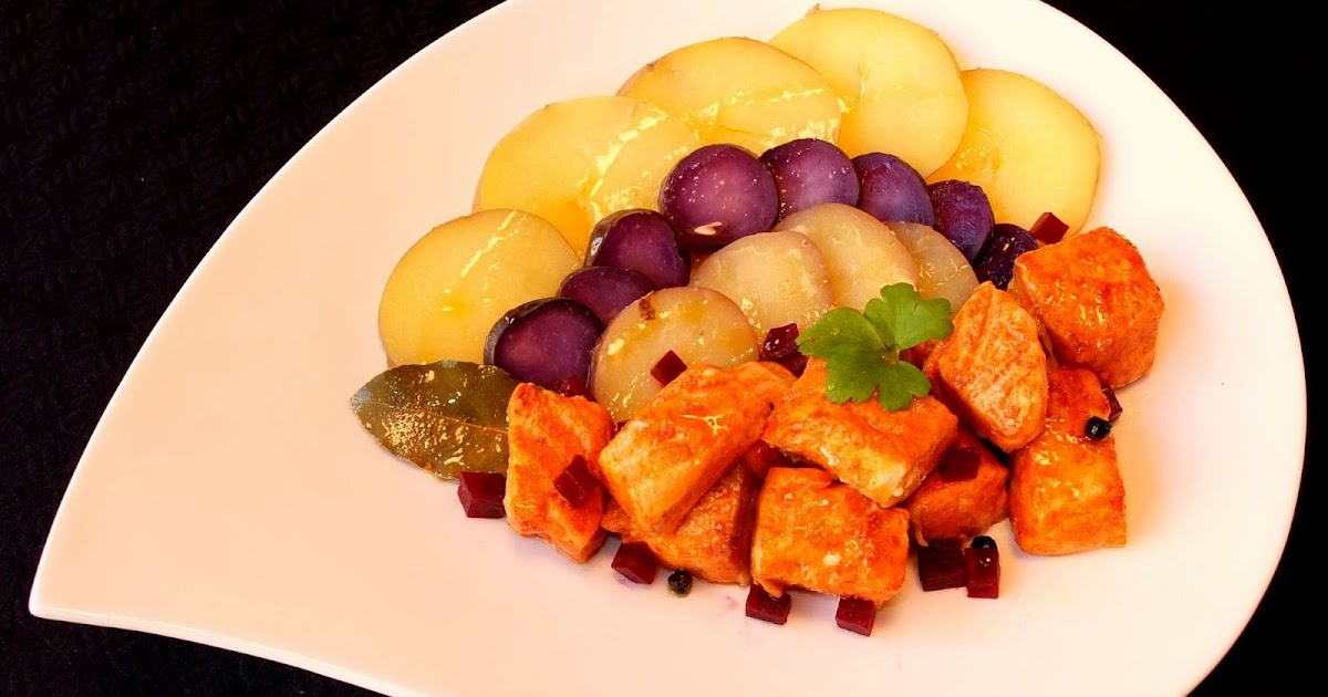 Cocinando con lola garc a salm n en escabeche con patatas - Cuanto tarda en cocer una patata ...