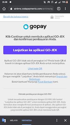 Lanjutkan ke Aplikasi GO-JEK