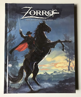 Cover art of Zorro: The Roleplaying Game, published by Gallant Knight Games.
