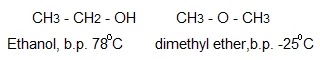 two isomers of molecular formula C2H6O