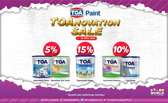 #Mitra10 - #Promo Potongan TOA  Paint Dapat Diskon Hingga 10% (s.d 30 Nov 2020)