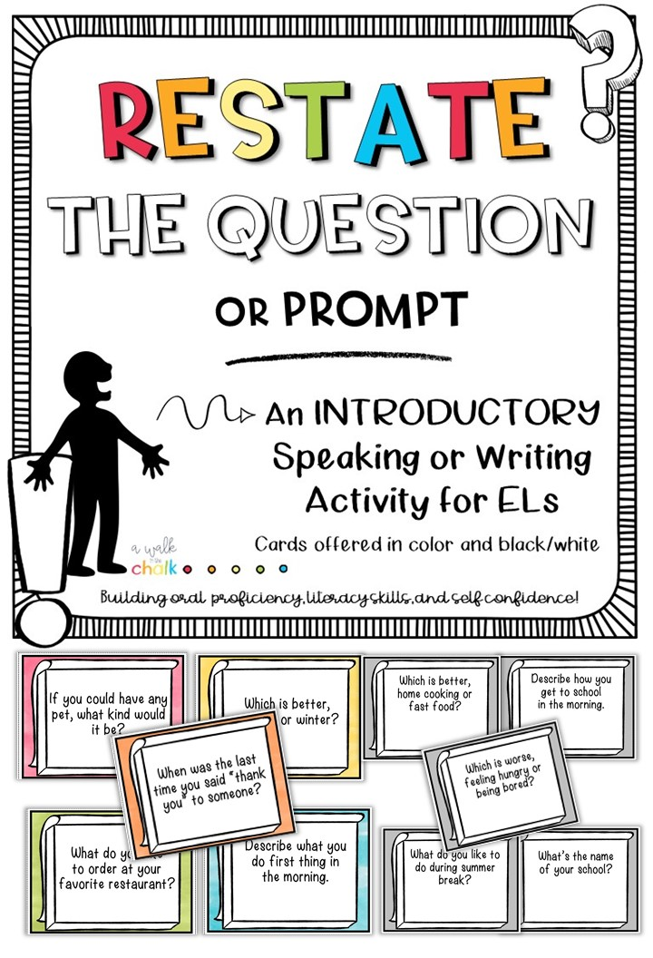 Restate the Question or Prompt