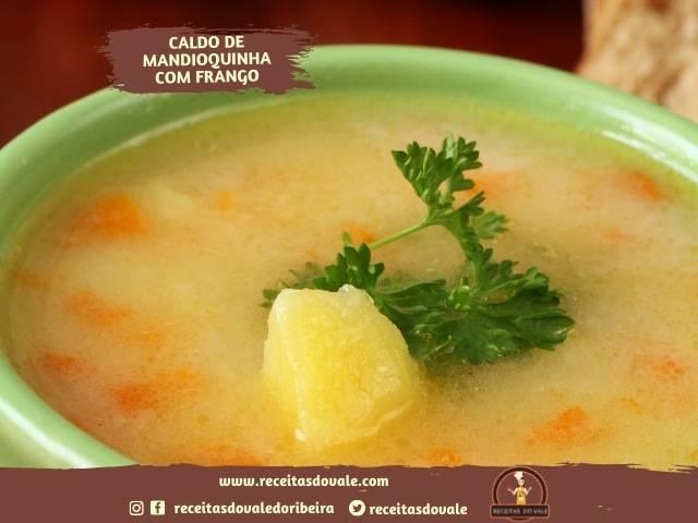 Receita de Sopa de Mandioquinha com Frango