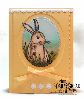 Our Daily Bread Designs Stamp Set: Hoppy Birthday, Custom Dies:  Bitty Borders, Large Banners, Pierced Rectangles, Oval Stitched Rows, Poinsettia Inset